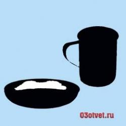 кружка и тарелка с едой